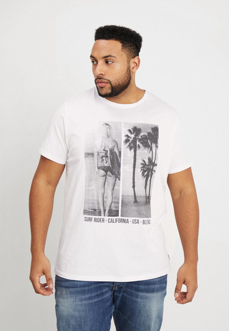 Blend - T-shirt con stampa - white