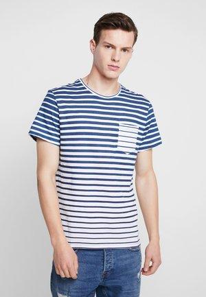 TEE - T-shirt med print - denim blue