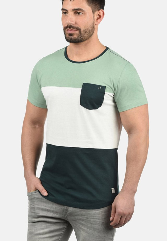 Print T-shirt - pine green