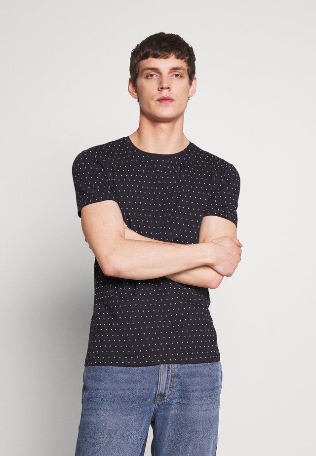 T-shirt z nadrukiem - dark navy/blue