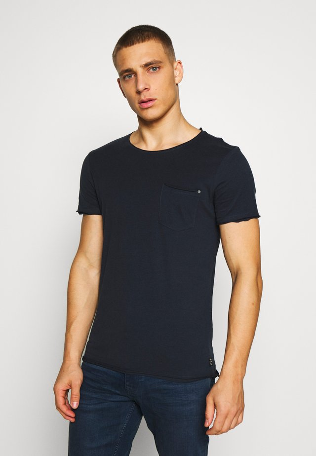 SLIM  - T-Shirt basic - dark navy blue