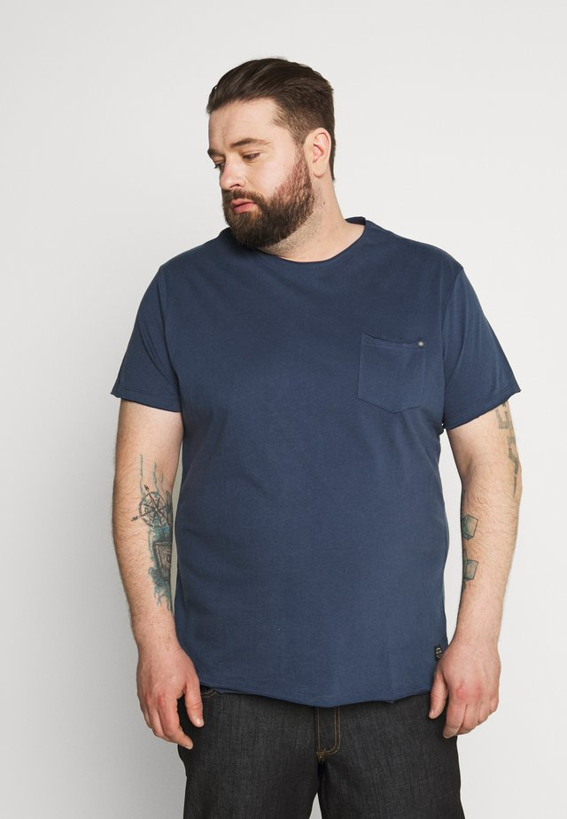 SLIM  - T-shirt - bas - denim blue