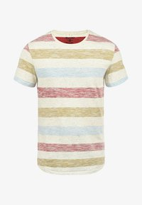 Blend - EFKIN - Print T-shirt - rust red - 4