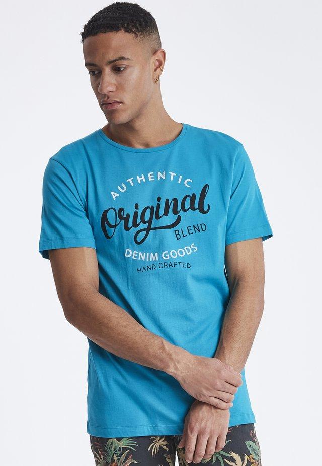 TEE REGULAR FIT - T-shirt print - reef blue