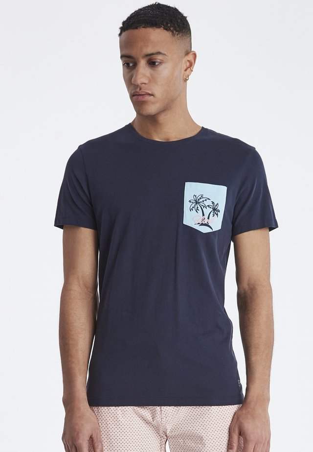 TEE SLIM FIT - T-shirts print - dark navy blue