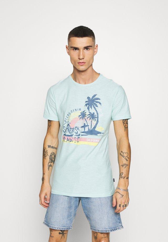 Print T-shirt - starlight blue
