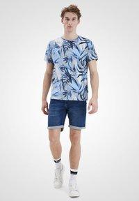Blend - Print T-shirt - chip grey - 1
