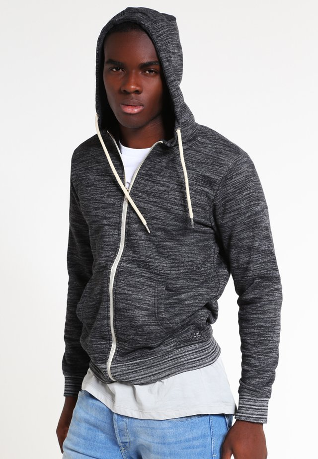 REGULAR FIT - Mikina na zip - charcoal