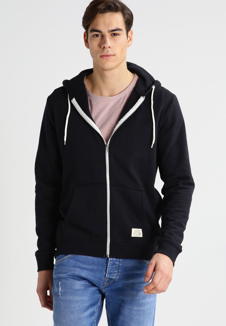 Blend - REGULAR FIT - Sudadera con cremallera - black