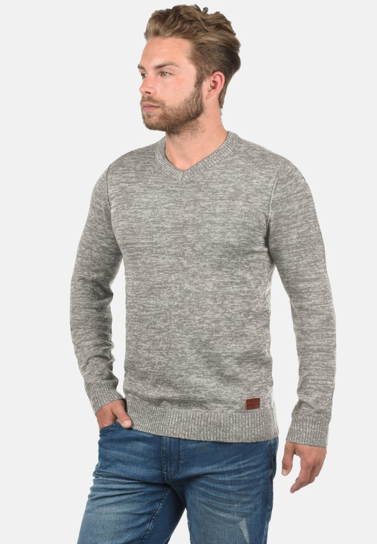 Blend - DANSEL - Strickpullover - light grey