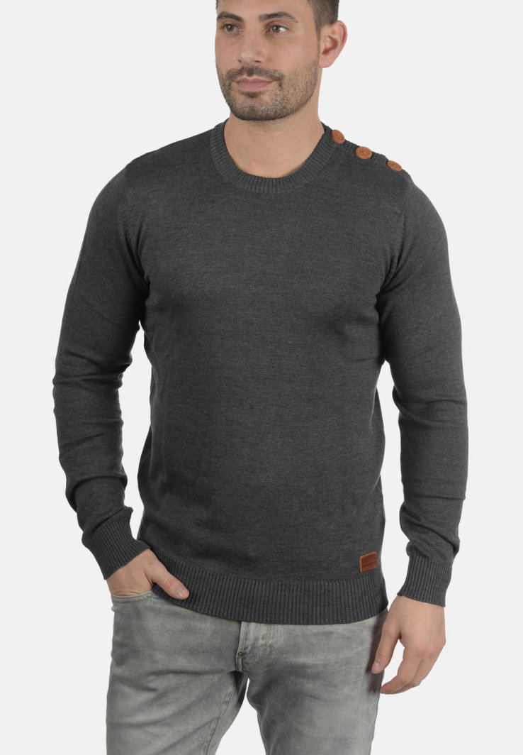 Blend - LOUIS - Strickpullover - charcoal