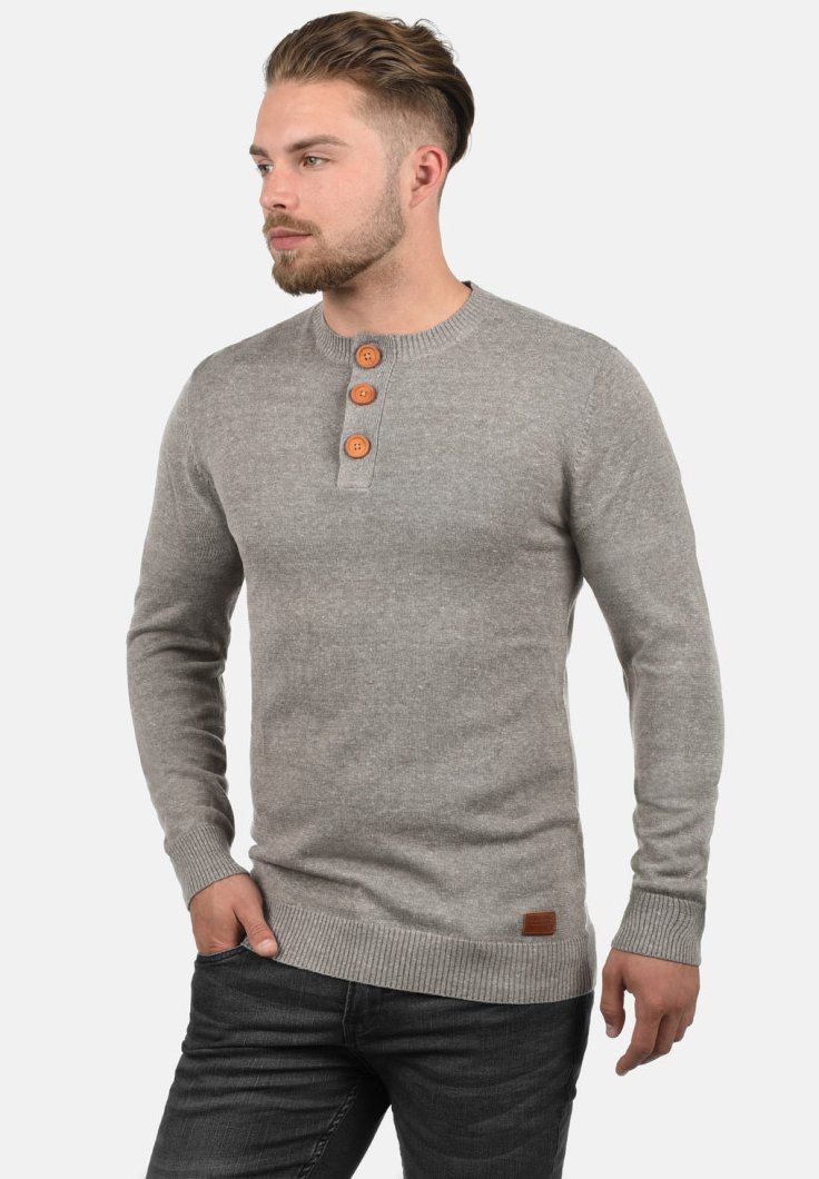 Blend - LEONARDO - Strickpullover - light grey