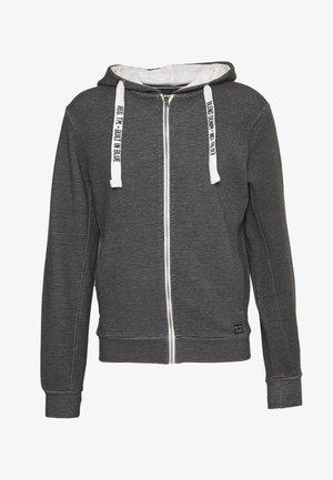 SWEATSHIRT - Zip-up hoodie - black