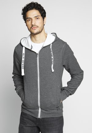 SWEATSHIRT - Zip-up hoodie - black