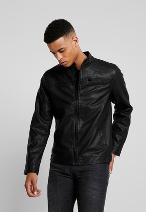 OUTERWEAR - Faux leather jacket - black