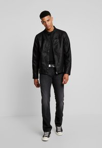 Blend - OUTERWEAR - Veste en similicuir - black - 1