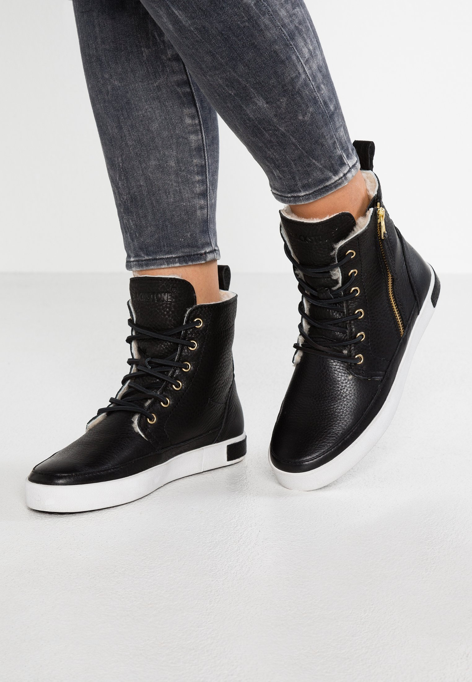Blackstone LAOS TOWN - Sneakers alte black