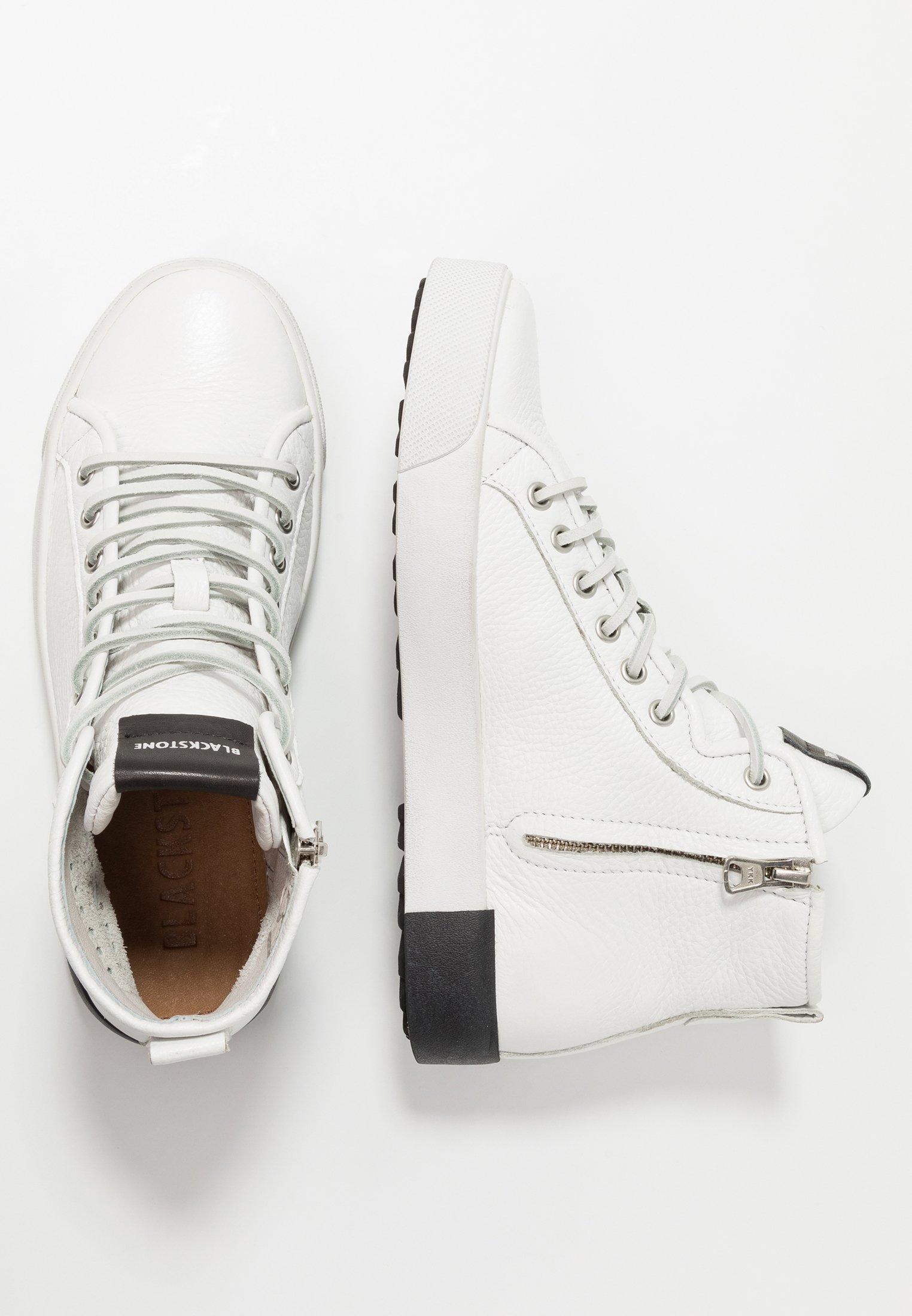 Blackstone Sneakersy wysokie - white