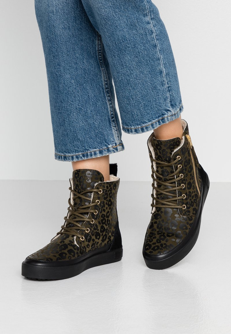 Blackstone - Lace-up ankle boots - winter moss