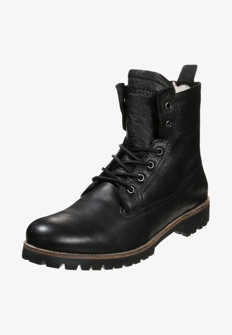 Blackstone - Lace-up ankle boots - black