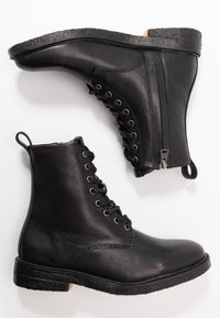 Blackstone - Lace-up ankle boots - black - 3