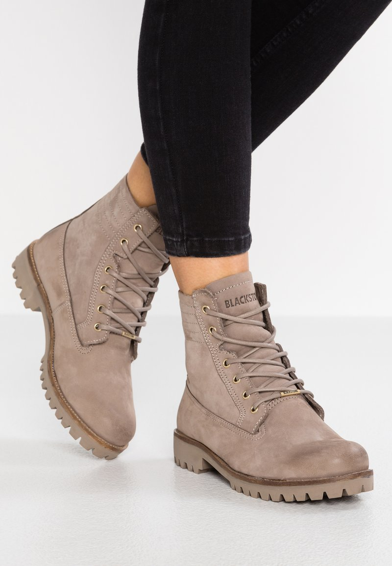 Blackstone - Lace-up ankle boots - fungi