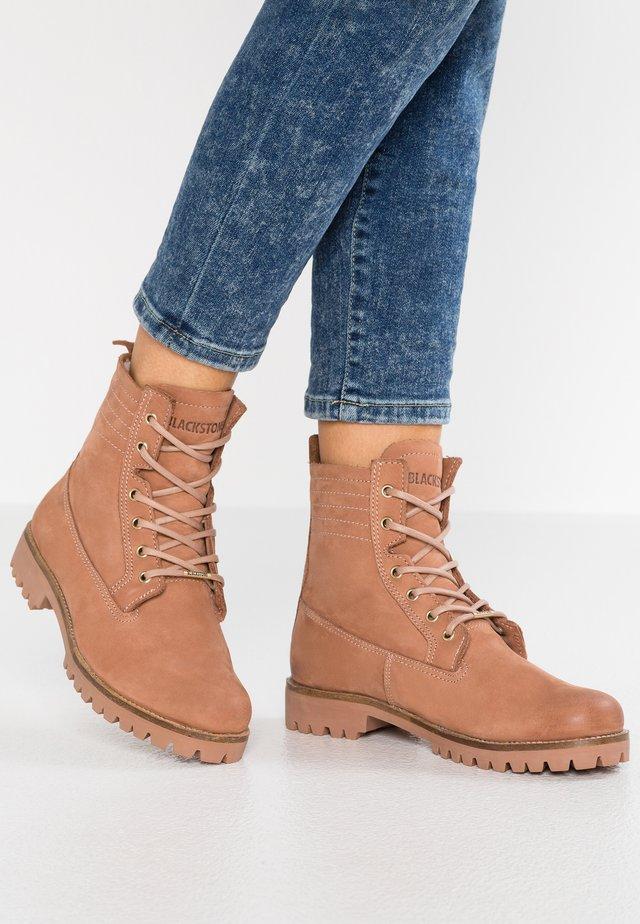 Lace-up ankle boots - cafe au lait
