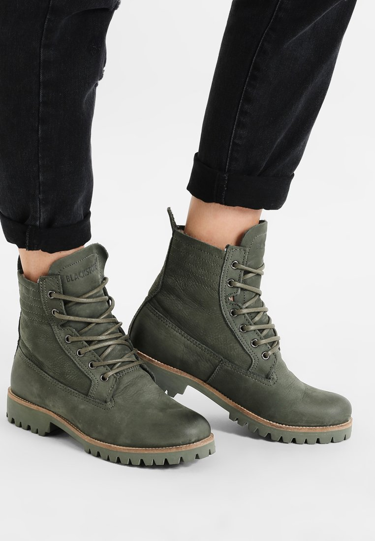 Blackstone - Lace-up ankle boots - dark green