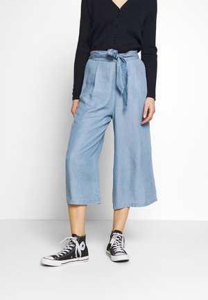 CULOTTE - Trousers - blue denim