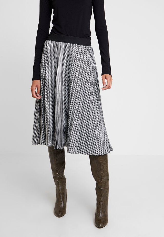 PLISSEE - A-line skirt - schwarz