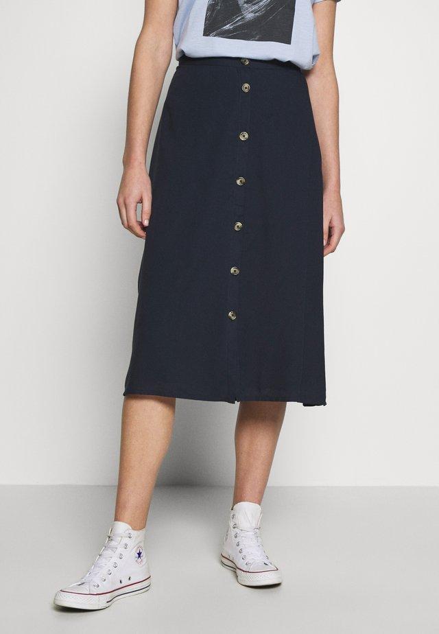 DA MIDI ROCK - A-line skirt - blau