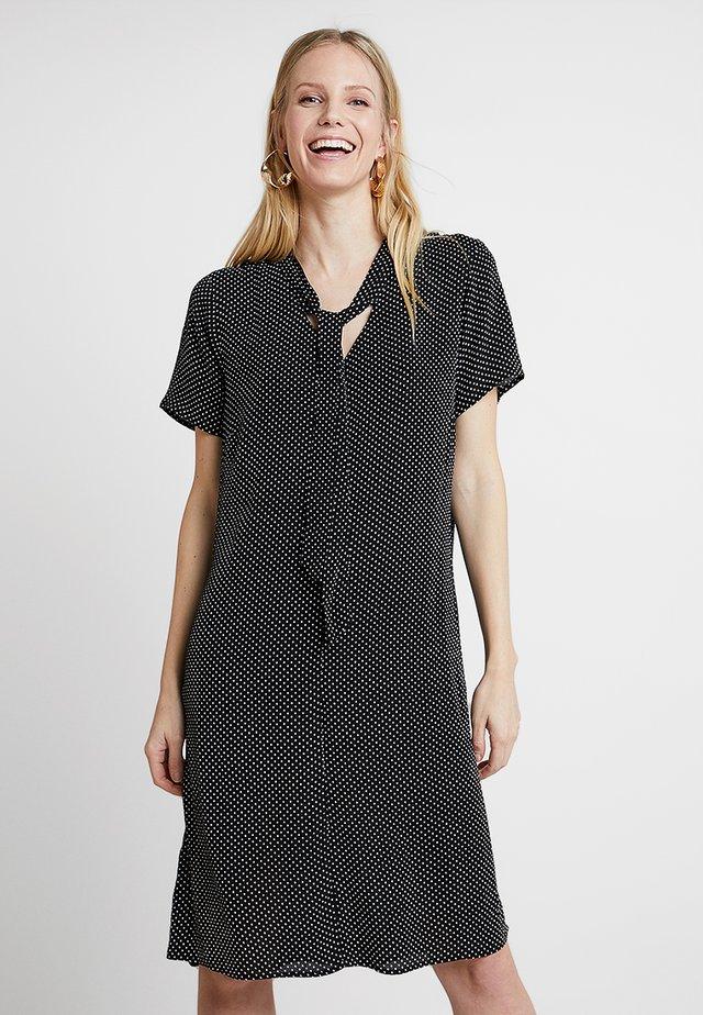 V AUSSCHNITT - Day dress - schwarz