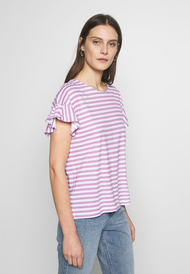 OVERSIZED - T-shirt con stampa - mauve