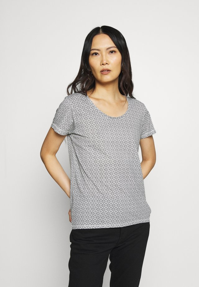 RUNDHALS - Print T-shirt - weiss original