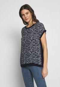 Blue Seven - Print T-shirt - nachtblau - 0