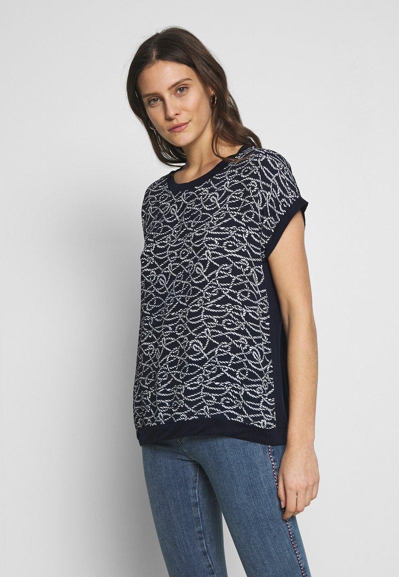 Blue Seven - Print T-shirt - nachtblau