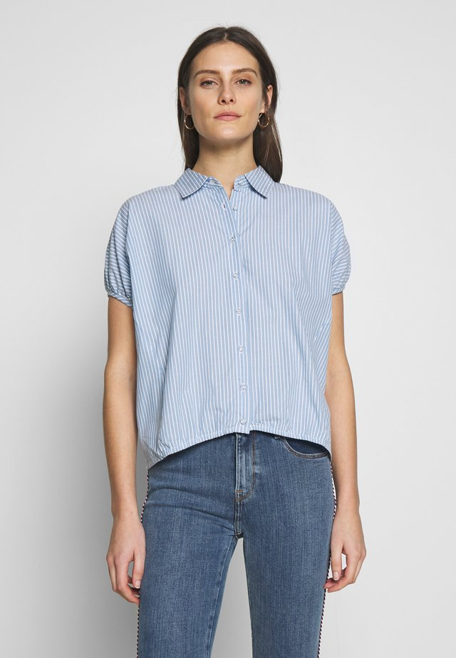 OVERSIZED - Button-down blouse - blau
