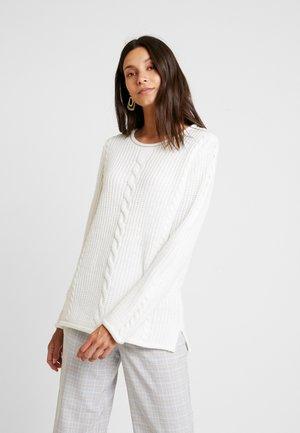 RUNDHALS - Pullover - offwhite