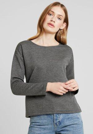 RUNDHALS - T-shirt à manches longues - anthrazit