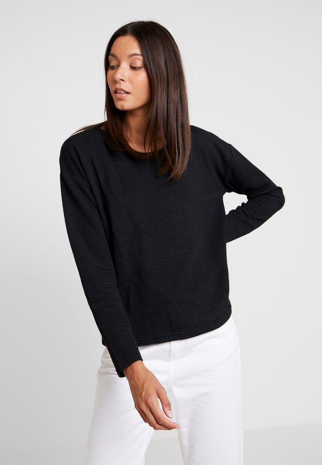 RUNDHALS - Long sleeved top - schwarz