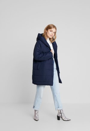 Halflange jas - nachtblau