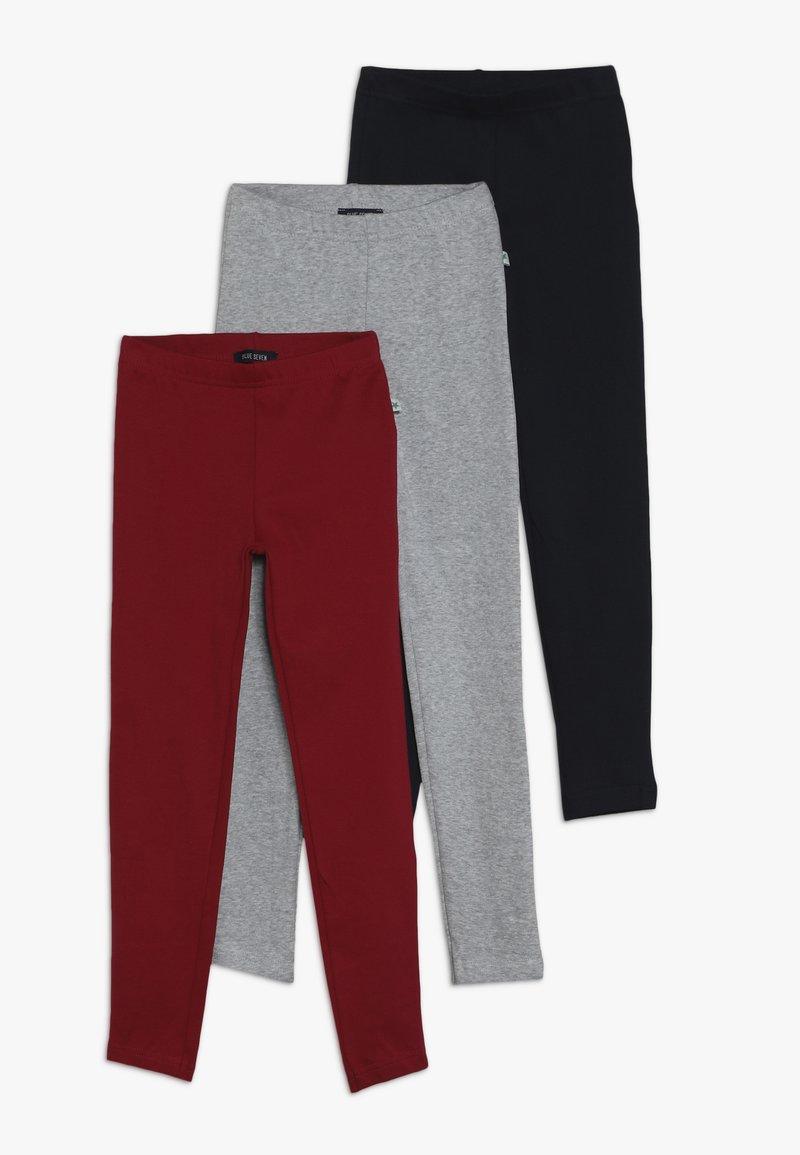Blue Seven - 3 PACK - Leggings - Trousers - blau/magenta/nebel