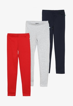 3 PACK - Leggings - Hosen - rot/nebel/dunkel blau