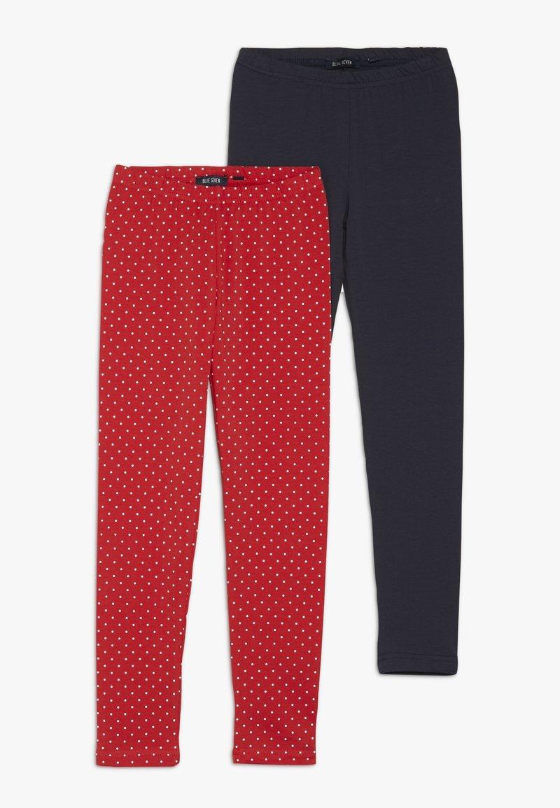Blue Seven - 2 PACK - Leggings - Trousers - dunkelblau/rot