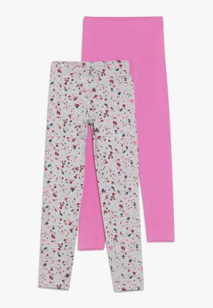 2 PACK - Legging - pink/nebel