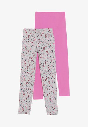 2 PACK - Leggings - Hosen - pink/nebel