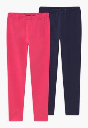 2 PACK - Legginsy - pink/blau