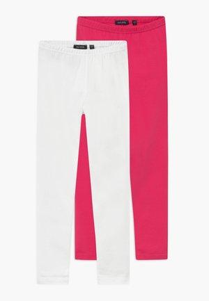 2 PACK - Leggings - pink/white