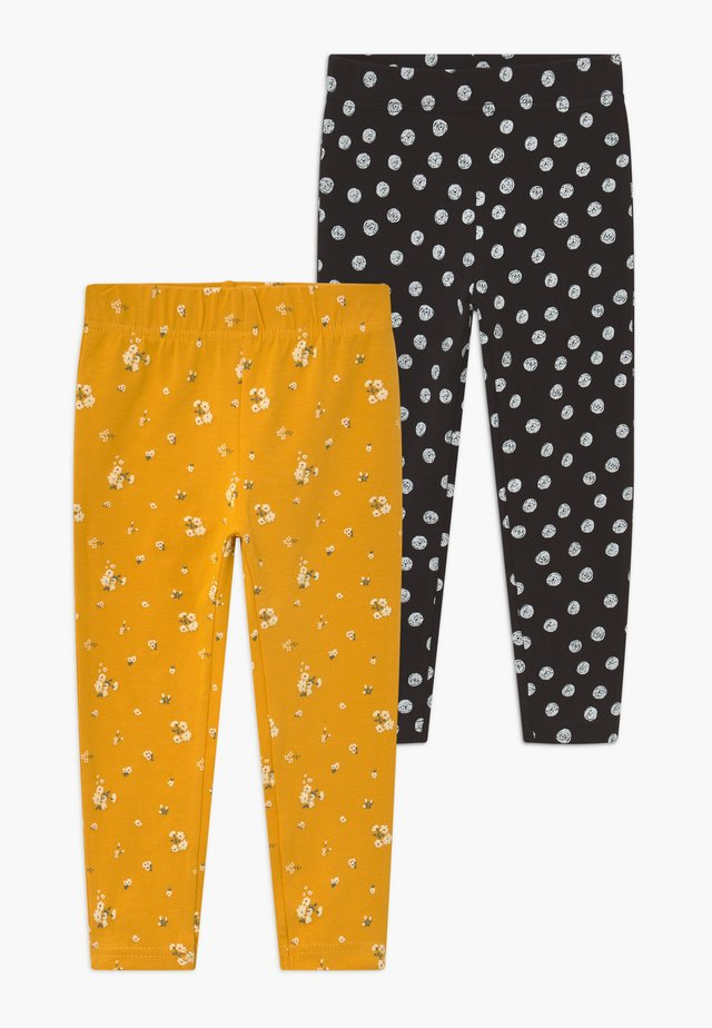 KIDS 2 PACK - Leggings - Trousers - dotter/schwarz