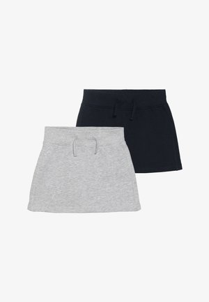 2 PACK - Minirok - dunkelk blau/nebel